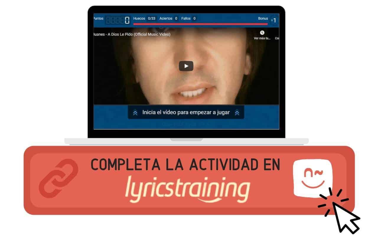 Lyricstrainning - A dios le pido