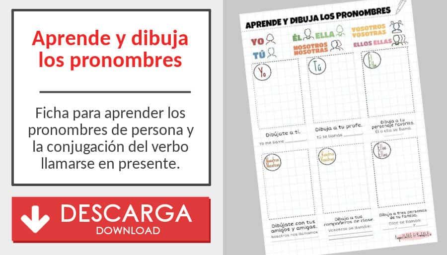 Material Para Memorizar Los Verbos Y Los Pronombres De