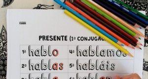 Verbos en español coloreables