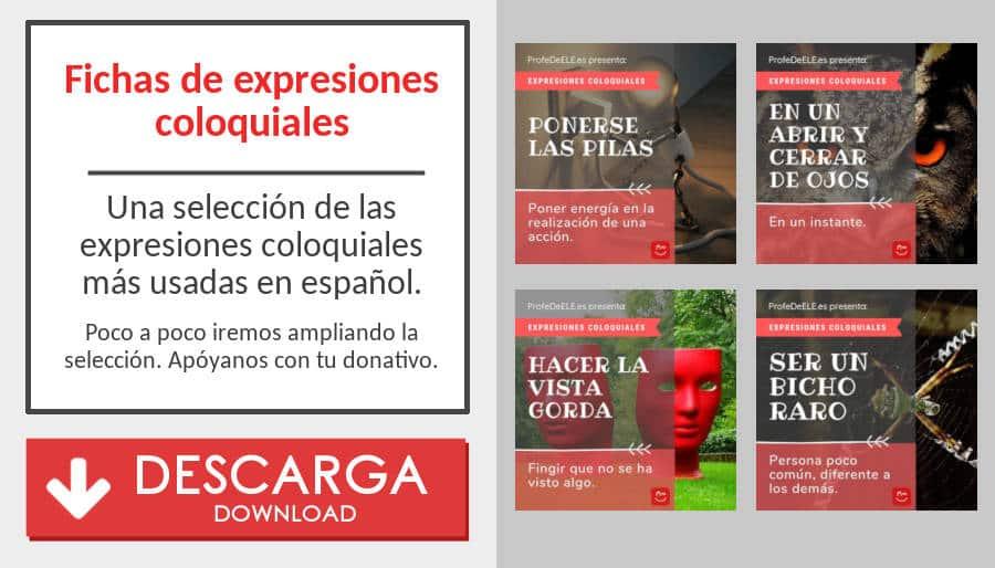 Descarga las expresiones coloquiales más usadas en español